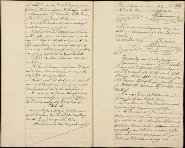 Roosendaal: Notulen gemeenteraad (besloten), 1851-1916 1883