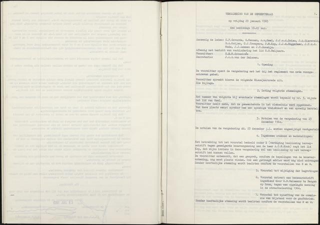 Zevenbergen: Notulen gemeenteraad, 1930-1996 1965-01-01