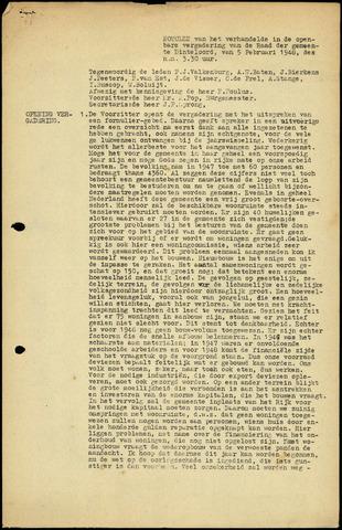 Dinteloord: Notulen gemeenteraad, 1946-1996 1948