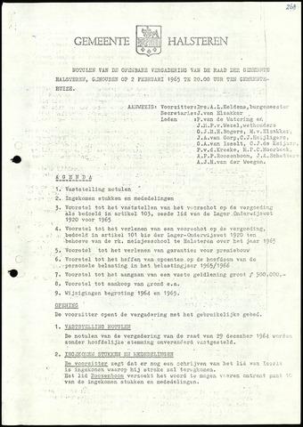 Halsteren: Notulen gemeenteraad, 1960-1996 1965