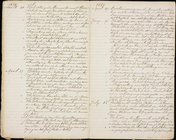 Roosendaal: Inhoudsopgaven notulen, 1849-1903 1859
