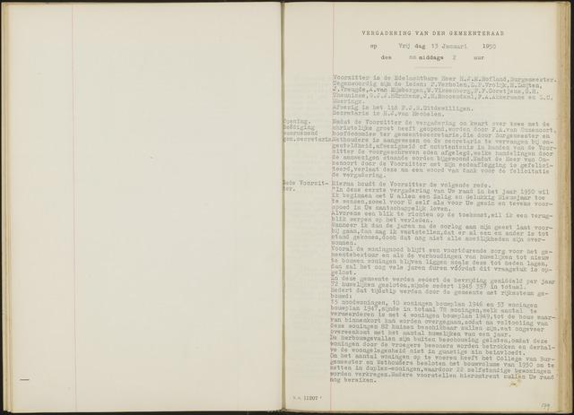 Oud en Nieuw Gastel: Notulen gemeenteraad, 1938-1980 1950-01-01