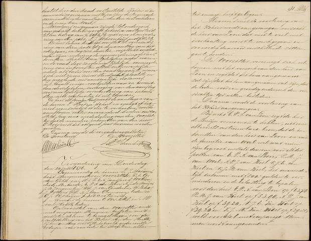 Roosendaal: Notulen gemeenteraad (besloten), 1851-1916 1876