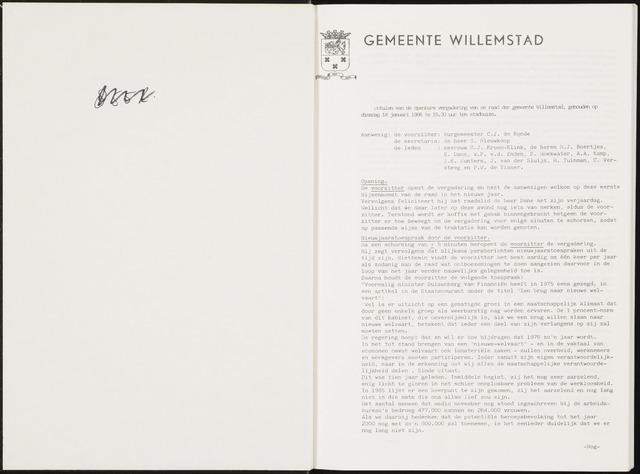 Willemstad: Notulen gemeenteraad, 1927-1995 1986-01-01