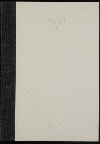 Roosendaal: Notulen gemeenteraad, 1916-1999 1981