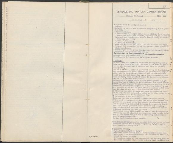 Huijbergen: Notulen gemeenteraad 1935-1996 1955-01-01