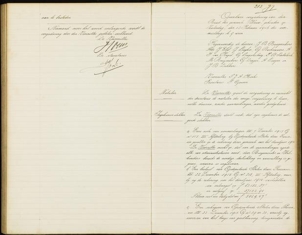 Wouw: Notulen gemeenteraad, 1813-1996 1916