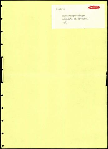 Putte: Notulen gemeenteraad, 1928-1996 1983-01-01
