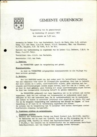 Oudenbosch: Notulen gemeenteraad, 1939-1994 1969-01-01