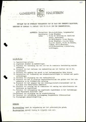 Halsteren: Notulen gemeenteraad, 1960-1996 1969
