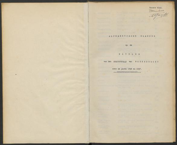 Woensdrecht: Notulen gemeenteraad, 1922-1996 1926-01-01
