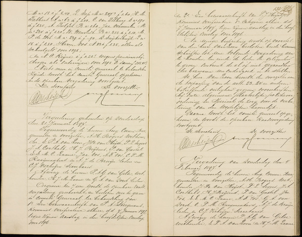 Roosendaal: Notulen gemeenteraad (besloten), 1851-1916 1897