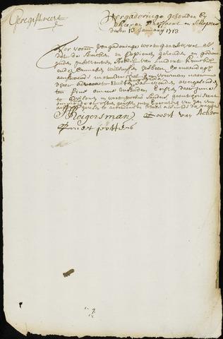 Wouw: Minuten van resoluties, 1710-1729 1713