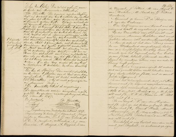 Roosendaal: Notulen gemeenteraad (besloten), 1851-1916 1868