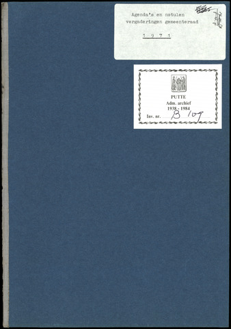 Putte: Notulen gemeenteraad, 1928-1996 1971-01-01