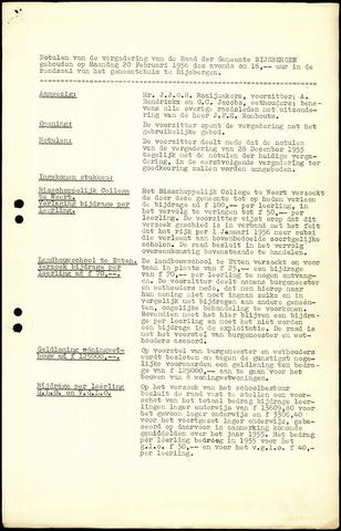 Rijsbergen: Notulen gemeenteraad, 1940-1996 1956