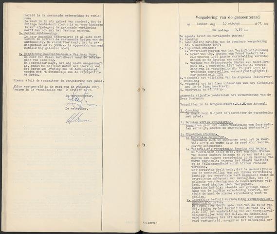 Huijbergen: Notulen gemeenteraad 1935-1996 1958-01-01