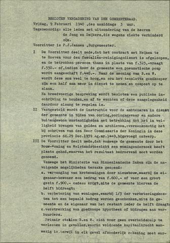Standdaarbuiten: Notulen gemeenteraad, 1937-1996 1940-01-01