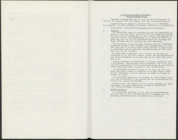 Nieuw-Vossemeer: Notulen gemeenteraad, 1957-1996 1967-01-01