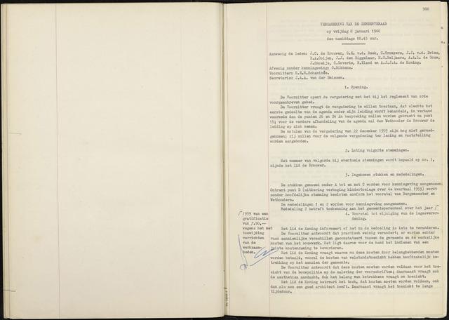 Zevenbergen: Notulen gemeenteraad, 1930-1996 1960-01-01