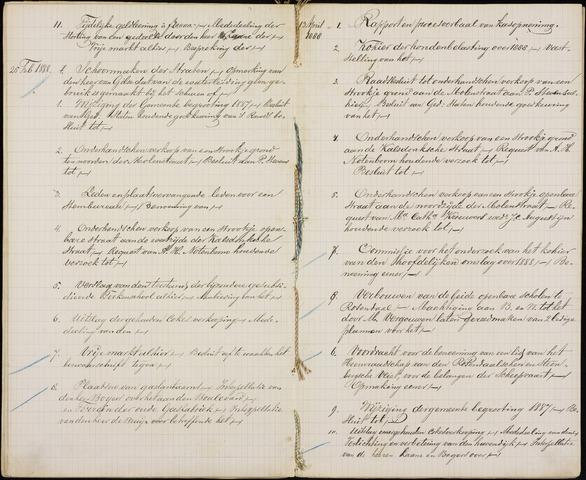Roosendaal: Inhoudsopgaven notulen, 1849-1903 1888