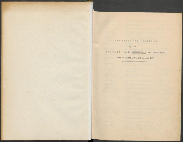Woensdrecht: Notulen gemeenteraad, 1922-1996 1941-01-01