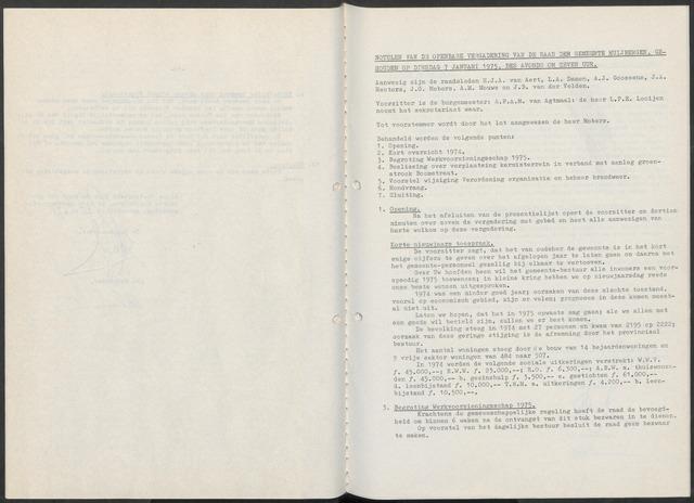 Huijbergen: Notulen gemeenteraad 1935-1996 1975-01-01