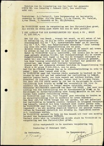 Putte: Notulen gemeenteraad, 1928-1996 1947-01-01