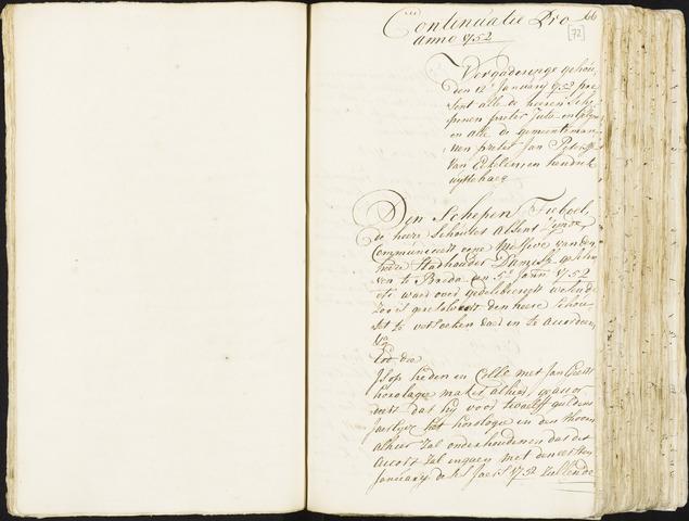 Roosendaal: Registers van resoluties, 1671-1673, 1675, 1677-1795 1752