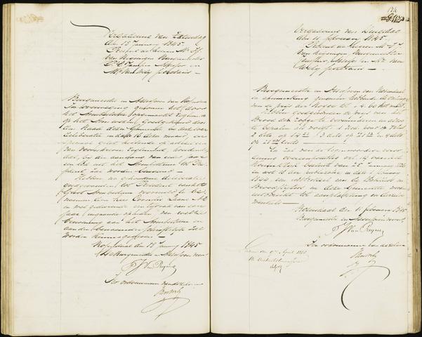 Roosendaal: Notulen van burgemeester en assessoren, 1827-1851 1845