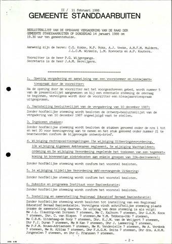 Standdaarbuiten: Notulen gemeenteraad, 1937-1996 1988-01-01