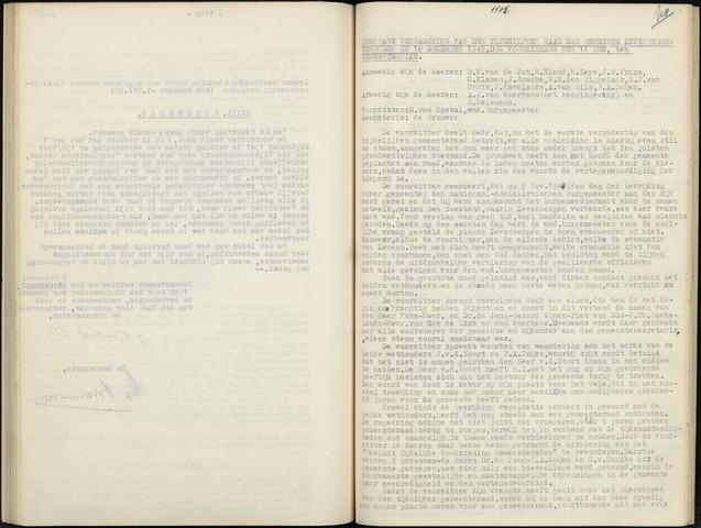Zevenbergen: Notulen gemeenteraad, 1930-1996 1945-01-01