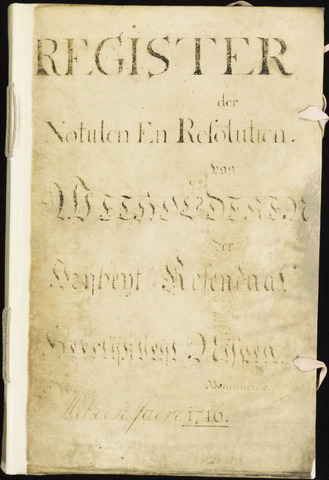 Roosendaal: Registers van resoluties, 1671-1673, 1675, 1677-1795 1746