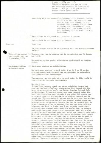Zundert: Notulen gemeenteraad, 1934-1988 1977-01-01