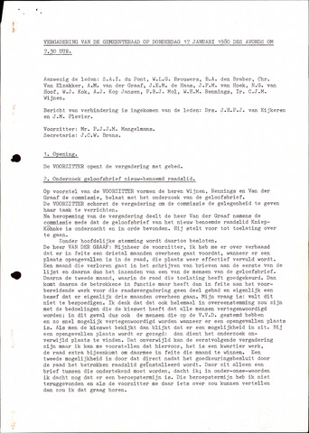 Oudenbosch: Notulen gemeenteraad, 1939-1994 1980-01-01
