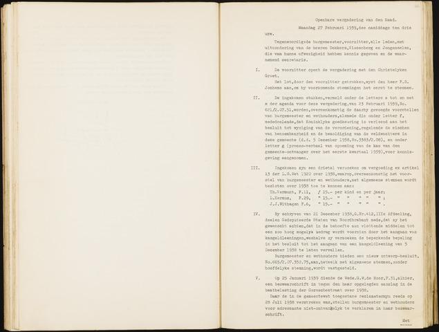 Hoeven: Notulen gemeenteraad, 1928-1996 1939-01-01