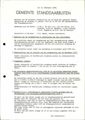 Standdaarbuiten: Notulen gemeenteraad, 1937-1996 1978-01-01