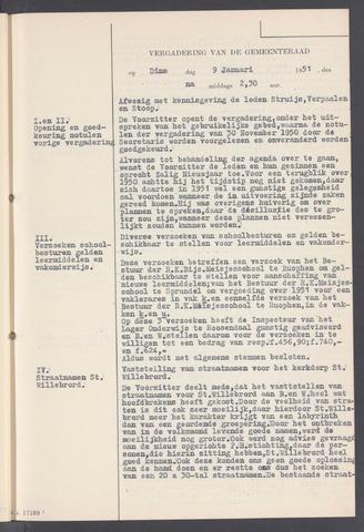 Rucphen: Notulen gemeenteraad, dec. 1949-1998 1951-01-01