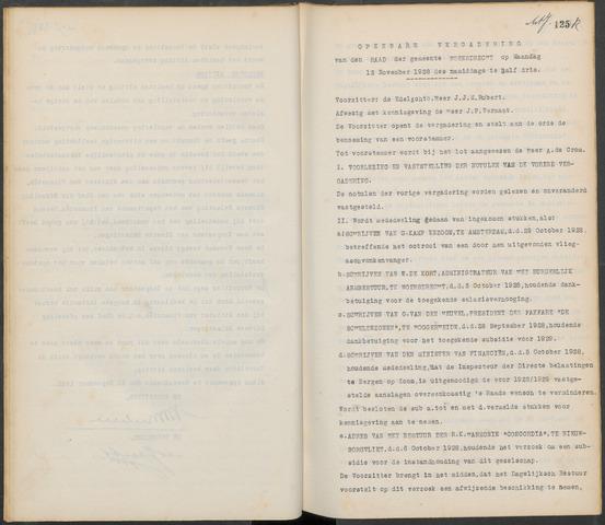 Woensdrecht: Notulen gemeenteraad, 1922-1996 1928-11-01