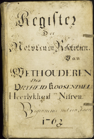 Roosendaal: Registers van resoluties, 1671-1673, 1675, 1677-1795 1763