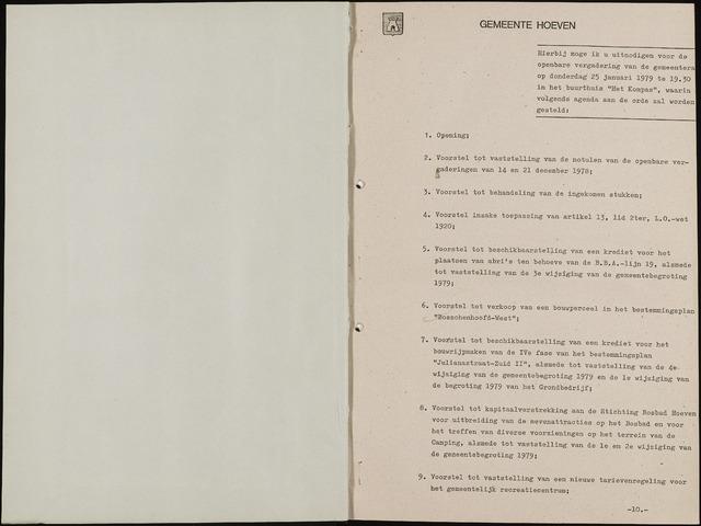 Hoeven: Notulen gemeenteraad, 1928-1996 1979-01-01