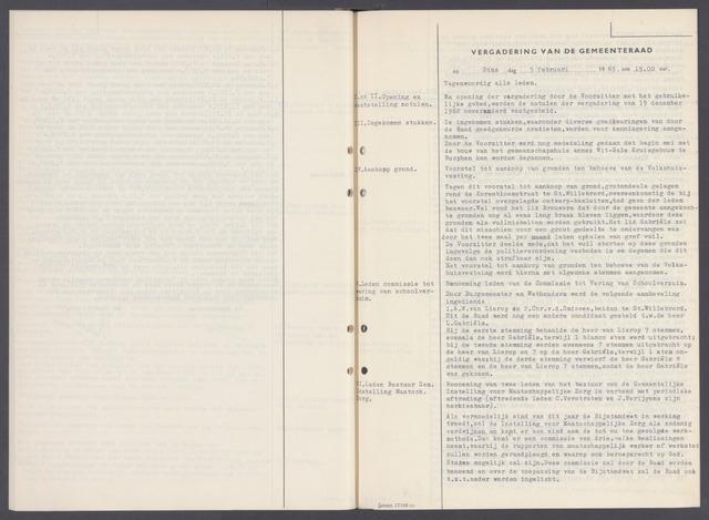 Rucphen: Notulen gemeenteraad, dec. 1949-1998 1963-01-01