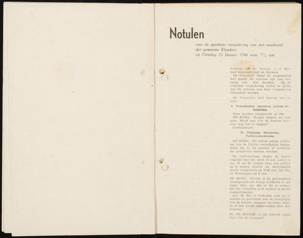 Klundert: Notulen gemeenteraad, mei 1933-1996 1946