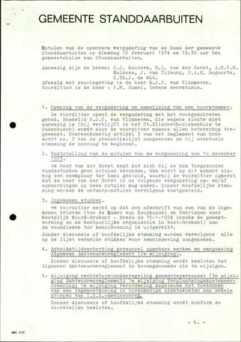 Standdaarbuiten: Notulen gemeenteraad, 1937-1996 1974-01-01