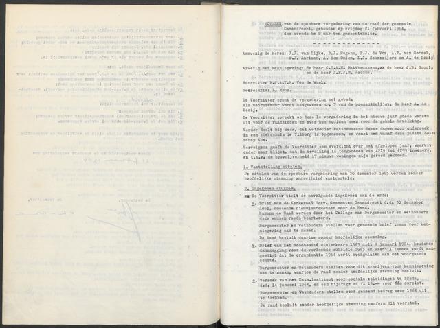 Ossendrecht: Notulen gemeenteraad, 1920-1996 1964
