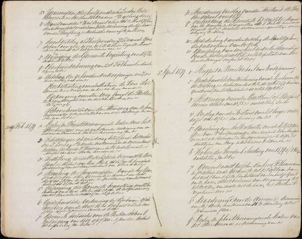Roosendaal: Inhoudsopgaven notulen, 1849-1903 1879