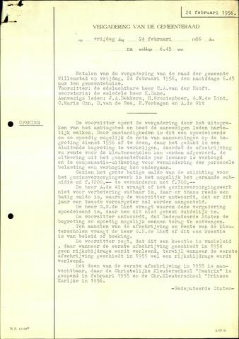 Willemstad: Notulen gemeenteraad, 1927-1995 1956-01-01