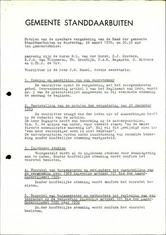 Standdaarbuiten: Notulen gemeenteraad, 1937-1996 1970-01-01
