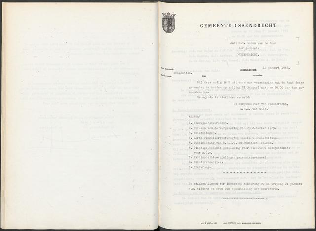 Ossendrecht: Notulen gemeenteraad, 1920-1996 1966
