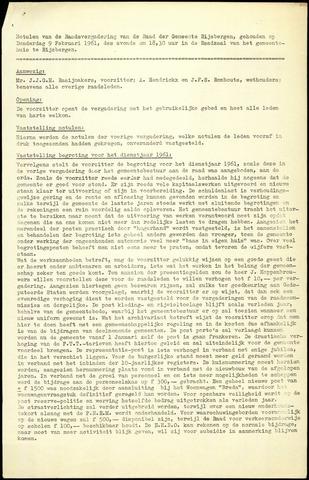 Rijsbergen: Notulen gemeenteraad, 1940-1996 1961
